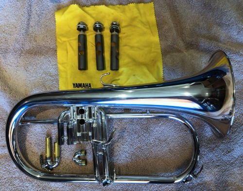 Disassembled Flugelhorn.