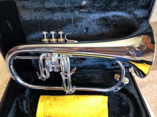 Yamaha Flugelhorn in a case