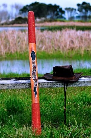 Didgeridoo on a bench